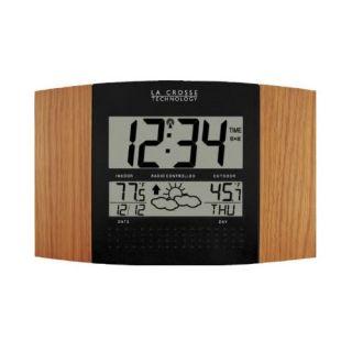 La Crosse WS8157 Atomic Digital Wall Clock w/ Forecast