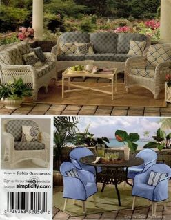 Outdoor Patio Furniture Chair Cover Cushions Pattern