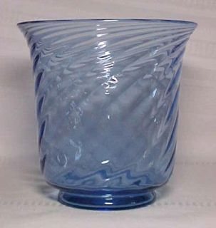 STEUBEN, FRENCH BLUE, SPIRAL OPTIC SWIRL LARGE VASE~~~