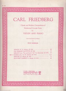 Carl Friedberg Rondo for Violin Piano Sheet Music 2 Part Fischer