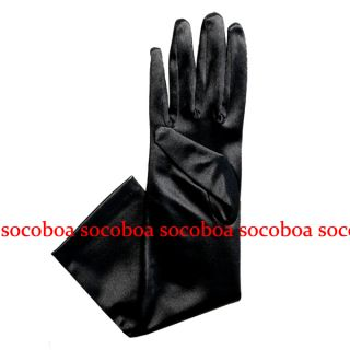 Elbow Length Opera Satin Formal Prom Gloves Halloween Wedding Bridal