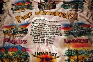 Fort Benning GA Infantry School Vintage Cloth Mother Souvenir
