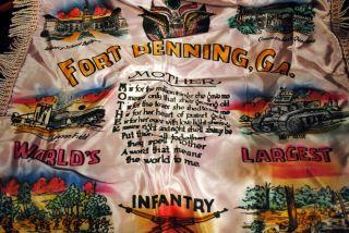 Fort Benning GA Infantry School Vintage Cloth Mother Souvenir