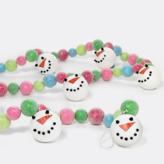 Department 56 Let it Snow, Man Snowman Christmas Tree Garland 6ft NWT