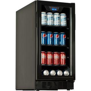 Undercounter Glass Door Refrigerator Compact Wine Beverage Cooler Mini