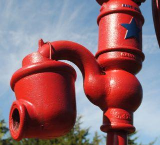 Blue Star Galva IL C Iron Hand Water Well Yard Art Pump