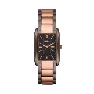 Fossil Womens Adele Stainless Steel Watch Brown and Rose ES3007