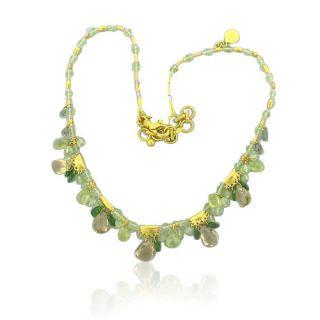 New Gurhan 24K Gold Multi Gemstone Necklace $8 520