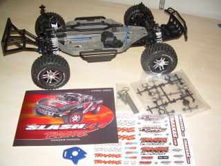 Traxxas Slash 4wd 4 wheel drive 4x4 Roller chassis with Tires No body