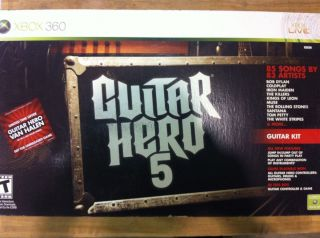 New Guitar Hero 5 Complete Kit for Xbox 360 Xbox360 Game System Guitar