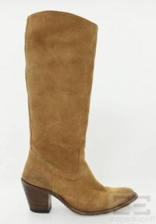 frye tan suede knee high boots size 7