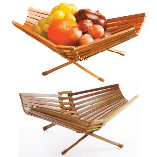 Fruit Basket Bowl Chef Collection Foldable Bamboo 100% Eco Friendly