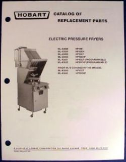 hobart electric pressure fryers hp15 parts catalog