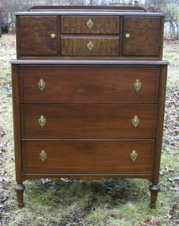 Walnut Masterpiece Antique Dresser Furniture Chest of Drawers Circa