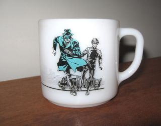 Green Hornet Kato Federal Milk Glass Mug 1966 Fox TV Greenway