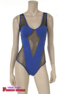 New Foxy Mesh Sexy Half Body Suit Royal Lady GA GA Style
