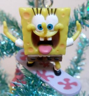 Squarepants 8 Piece Christmas Ornament Set w Sandy Gary Patrick