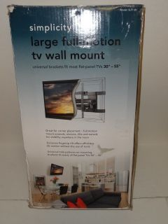 New Simplicity Large Full Motion TV Wall Mount TVs 30 55 SLF1 B1