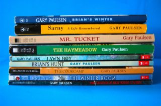 Lot 9 GARY PAULSEN Books HATCHET Titles BRIANS WINTER Mr Tucket SARNY