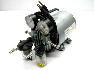 gast vacuum pump compressor 115 volt 1 6 hp