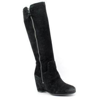 Franco Sarto Mercer Womens Size 10 Black Regular Suede Fashion   Knee