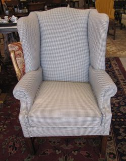 Ethan Allen Wingback Chair at The Raleigh Furniture Gallery