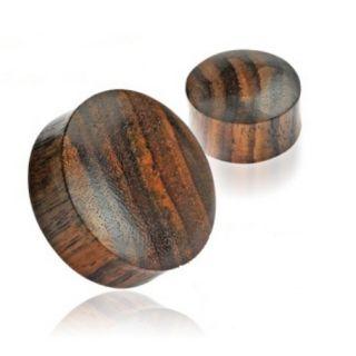 Sono Wood Ear Plugs Organic Saddle Piercing Gauges Earrings