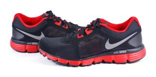 Nike Dual Fusion ST 2 Mens Black Gray Red Running Shoes Sneaker
