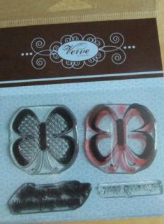 Futter by Butterfly Verve Clear Mount Rubber Stamp Set
