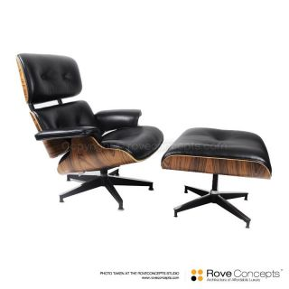 Eames Lounge Chair Ottoman White Mid Century Contemporary Furniture