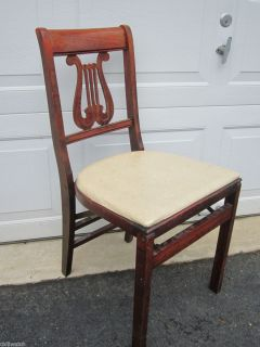 Stakmore Aristocrats of Folding Furniture Antique Wood Folding Chair
