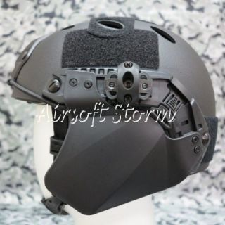 Airsoft SWAT Gear Up Armor Side Cover for Fast Helmet Rail Black