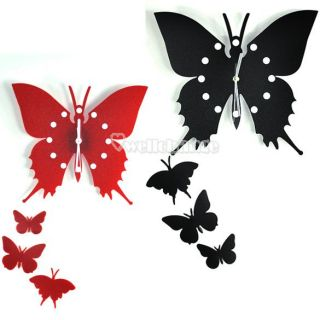 Charm Butterfly Wall Clock Decor Home Art Design Modern Style Time
