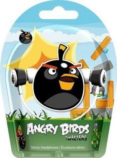 Gear4 Angry Birds in Ear Stereo Headphones Black Bird Tweeters