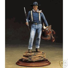 Franklin Mint John Wayne Rangerider Porcelain Sculpture