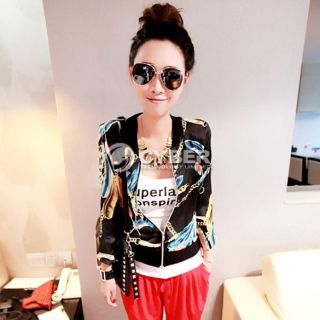Womens Leopard Pattern Fashion Casual Long Sleeve Coat Jacket Top