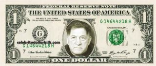 Sonny Franzese Mug Shot Celebrity Dollar Bill Uncirculated Mint US