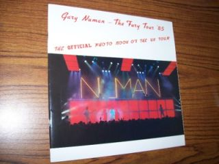 gary numan the fury tour book 1985 rare tons of pics
