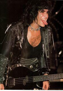 Gene Simmons Tongue Pinup Print Ad Vtg 80s Heavy Metal Kiss Army Band