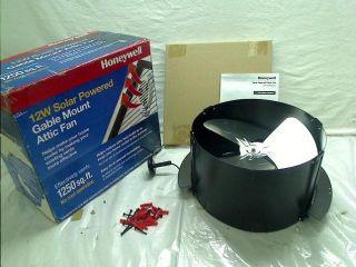 527SHON103BLK 12 Watt Gable Mount Solar Powered Attic Fan