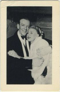 Fred Astaire Ginger Rogers 1984 MGM Game Card 2