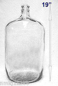 ANTIQUE 5 GALLON GLASS CARBOY 5G WATER WINE BREWING CORK JUG BOTTLE