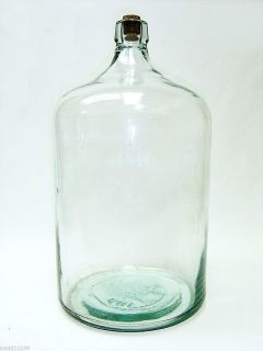 Antique 5 Gallon Glass Carboy 5g Water Wine Brewing Jug Bottle