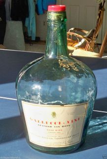 Vintage 1969 Gallucci Vini Spanish Vin Rose Wine Gallon Bottle