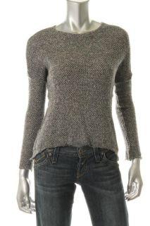 Generation Love New Black White Long Sleeve Asymmetric Pullover