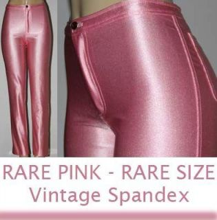 RARE Sexy Pink Fredericks of Hollywood Vtg Shiny Spandex Disco Pant