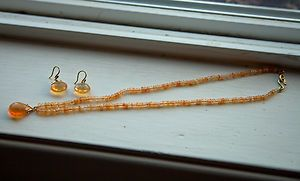 Gabrielle Sanchez 18K Fire Opal Necklace Earring Set