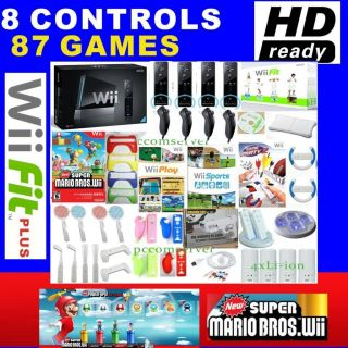 Nintendo Wii Console HD Game Fit Plus Super Mario Bros 013964338034