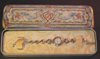 Brighton Genoa Japan Movement Silver Heart Womans Watch