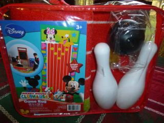 Disney Mickey Mouse Clubhouse Game Play Rug Includes Bowling Ball Pins